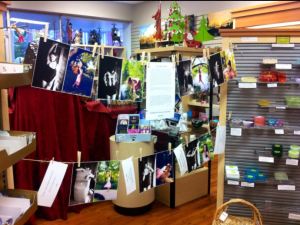 The display at the Fall Art Walk at I.B Nuts & Fruit Too on Elm Street in Washington, MO.